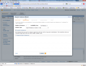 Amazon Instance Wizard