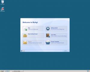 BizAgi Welcome Screen